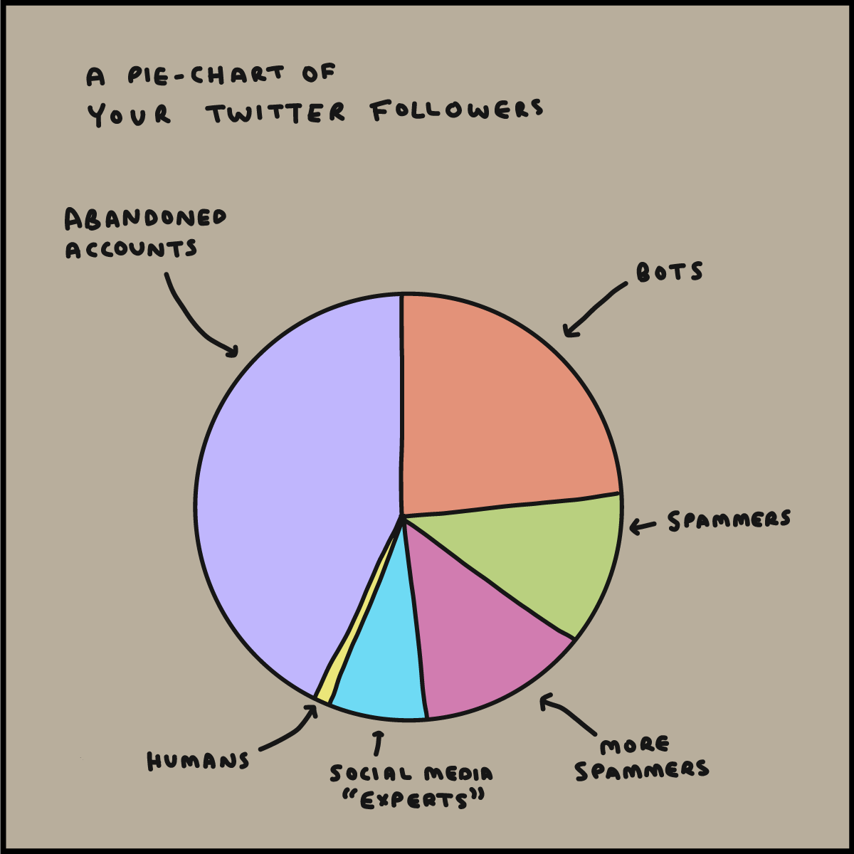A pie chart of your Twitter followers